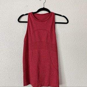 Lululemon Pink and Red Stripped Tank Top